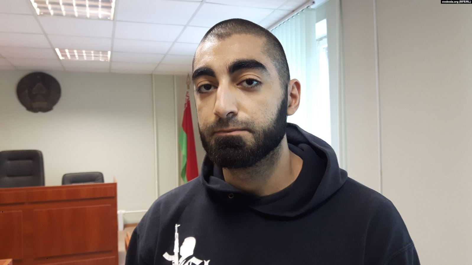 Raman Khalilau i domstol