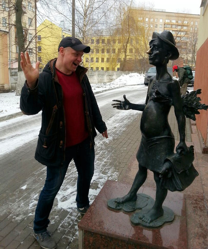 Anatoli Prymak zusammen mit fröhlicher Wasili