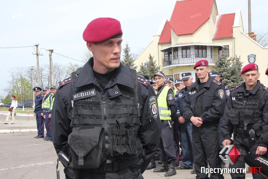 Dmitro Anzupow während einer Übung in Mykolaew, April 2014