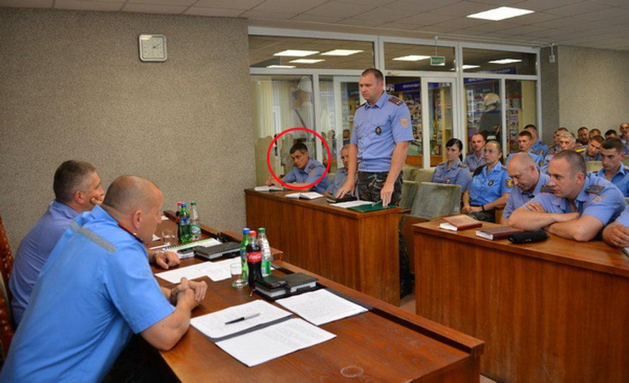 Dmitro Antsupov är markerad med en röd cirkel
