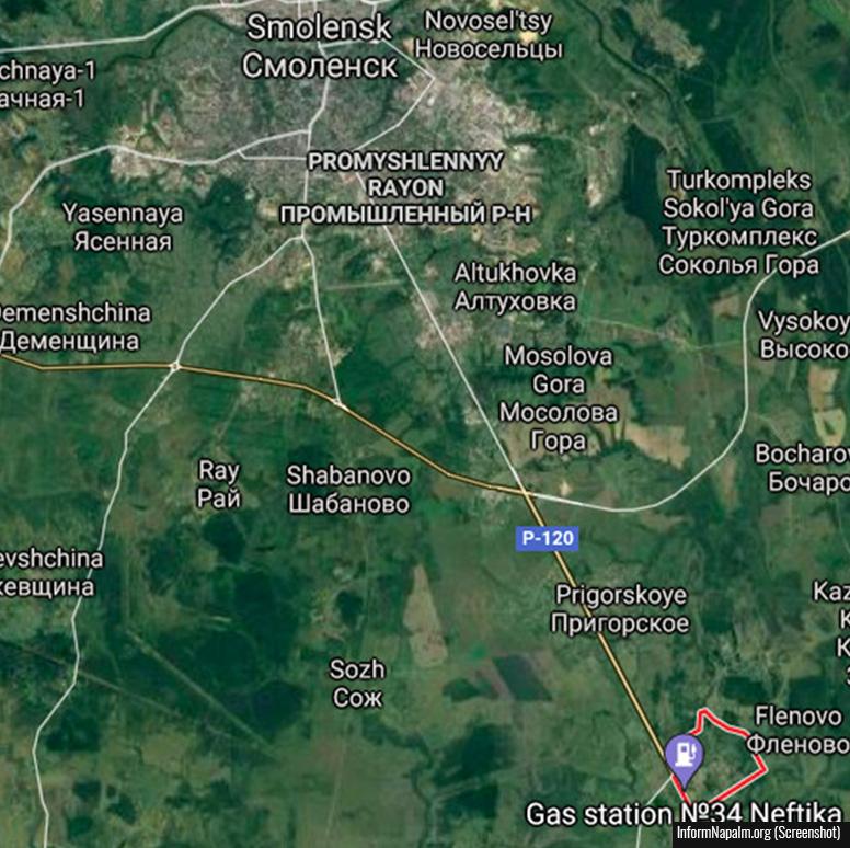 Motorvej P-120 syd for byen Smolensk