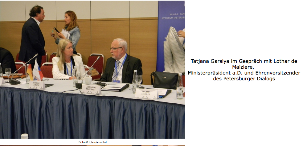 15:e sessionen i Sankt Petersburg-dialogen