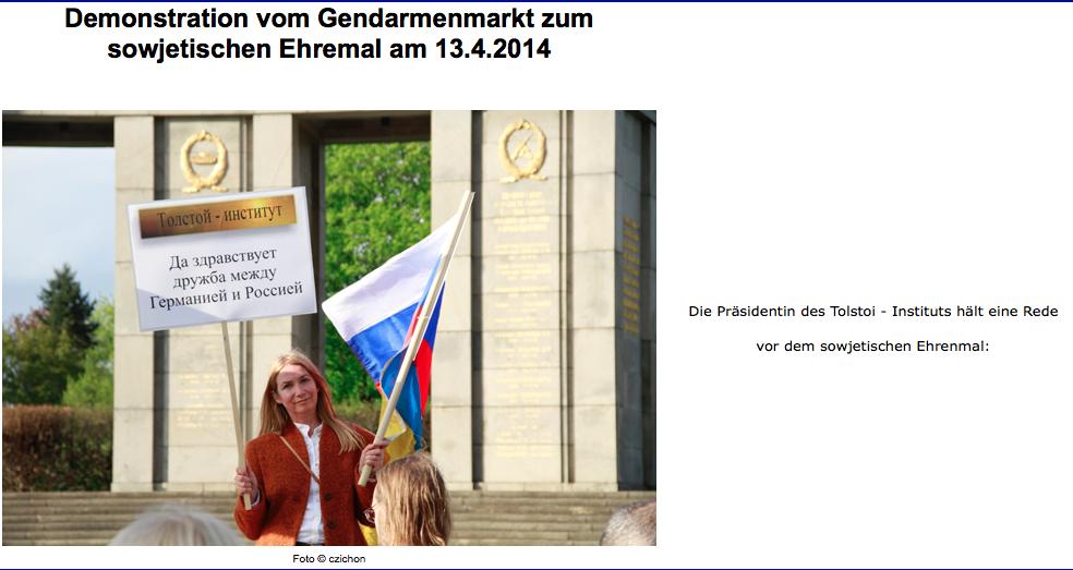 Pro-rysk demonstration vid Brandenburger Tor