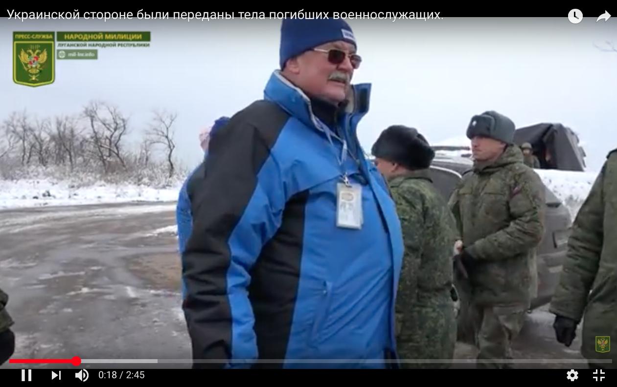 En OSSE-representant i det beste forholdet med LNR-terrorister