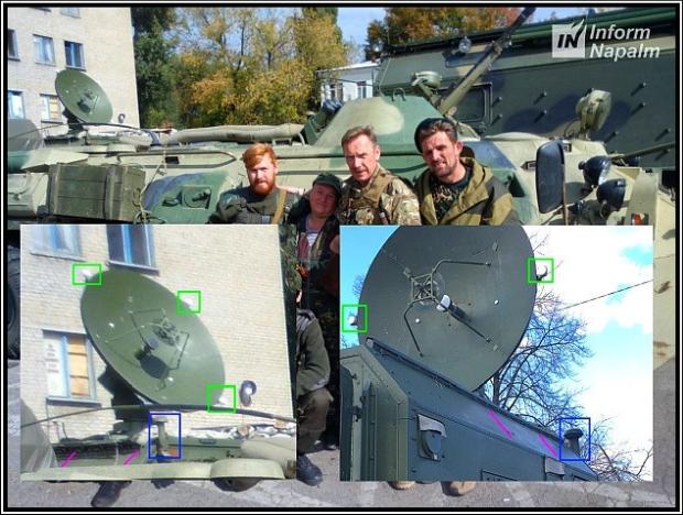 Russiske hærens hemmelige kommunikation i Donbass