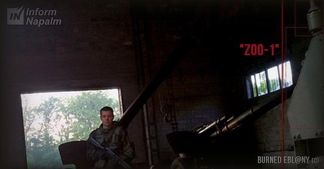 Russisk artilleriradar Zoopark-1 i det østlige Ukraine