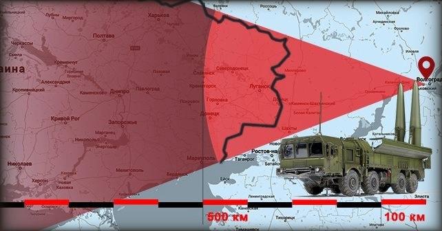 Iskander-M og S-300-affyringsramper observeret i Volgograd
