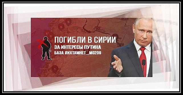 Frivillige lancerer et interaktivt ihtamnet-kort over soldater dræbt for Putin i Syrien