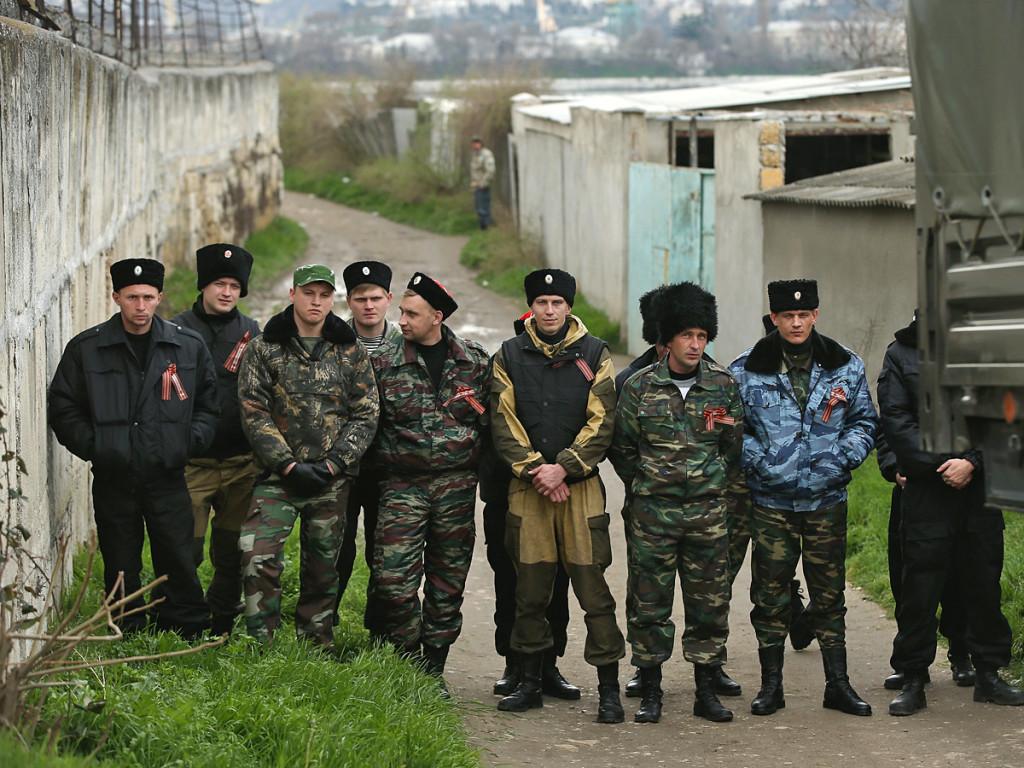 Russian cossacks in Crimea