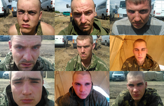 Russian captives from the 98th Airborne Forces division
