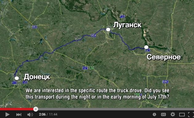 BUK that shot down MH17 arrived to Donetsk from Russia via Lugansk in the morning of July 17, 2015