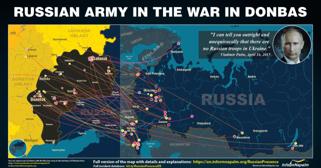 Russian Military Intervention in Ukraine Overview Evidence and Map