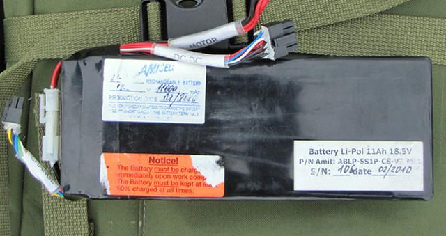 "Israeli Amicell – Amit Industries Ltd. battery on Russian ""Zastava"" drone"