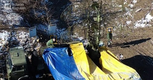 Russian radar system Kasta-2E1 spotted in Donbas 1