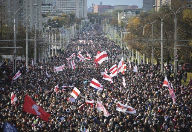Protesterna i Belarus fortsätter för fjärde månaden i rad