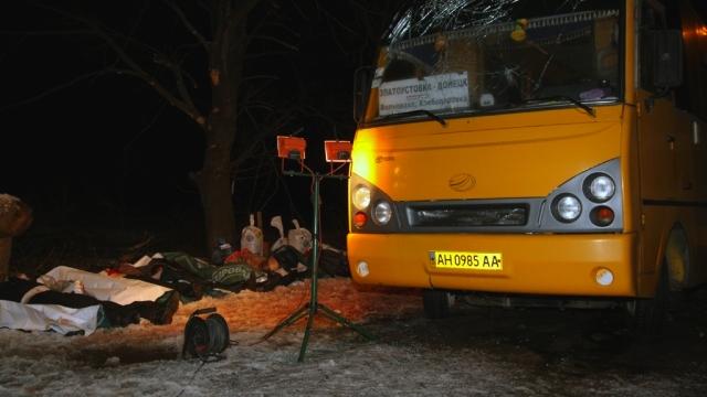 Bussangrep i Volnovakha