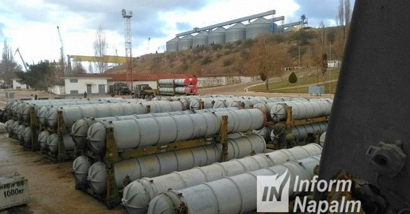 S-300 luftforsvarssystemer i Sevastopol havn