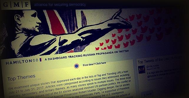 I USA blir Hamilton 68 lansert for å overvåke russisk propaganda på Twitter