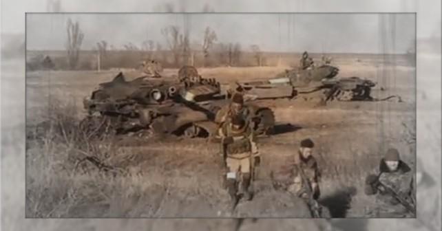 Förstörda ryska T-72B