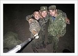 Soldater vid ryska förband i Donbass