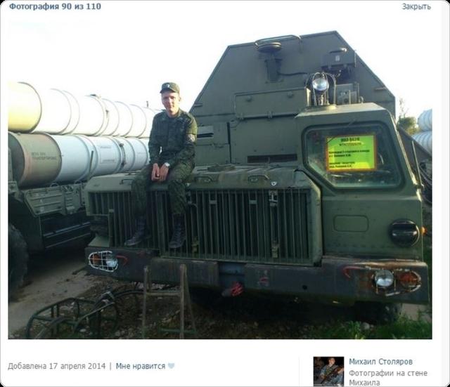 Rysk DNR-soldat i Donbass