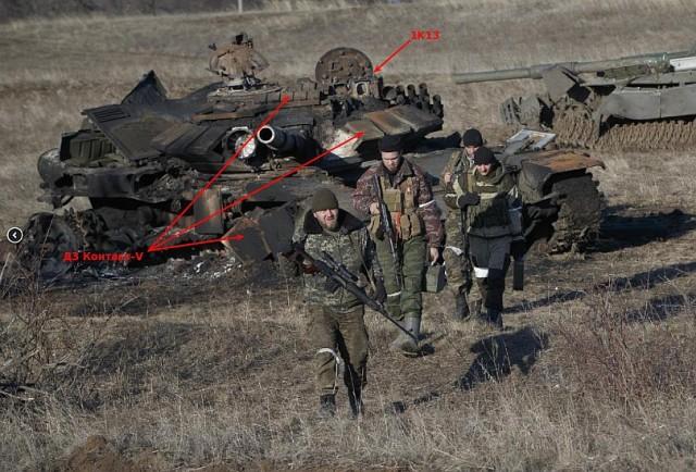 Förstörda ryska T-72BM
