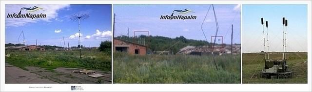 Ryska enheter med antenner i Donbass, Ukraina