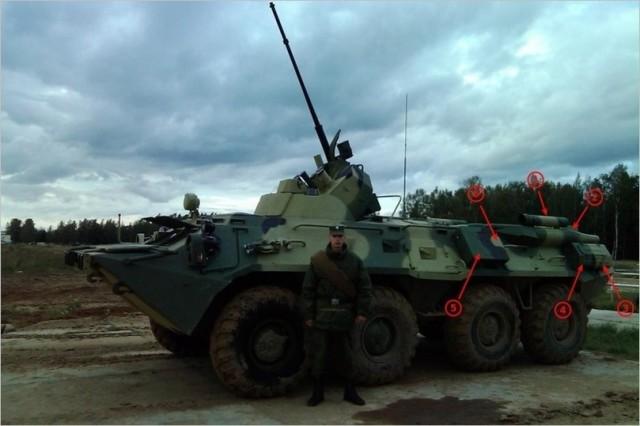 BTR-82A med kamouflagemålning