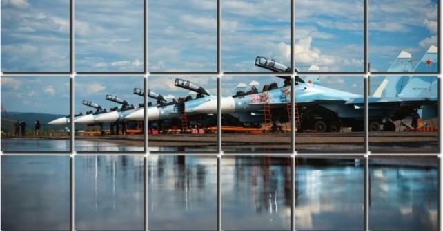 Piloter på SU-30SM i Syrien