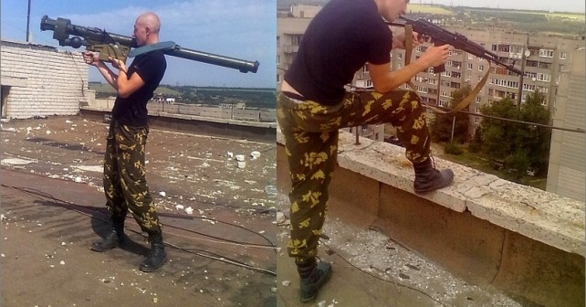 Bostadshus som sköld för de ryska trupperna i staden Pervomaisk