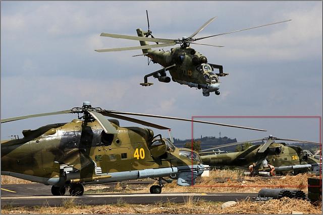 Mi-24 attack- och transporthelikopter