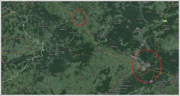 Flygbasen Seshchas geografiska koordinater