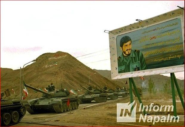 Iransk T-72 utan dynamiskt skydd