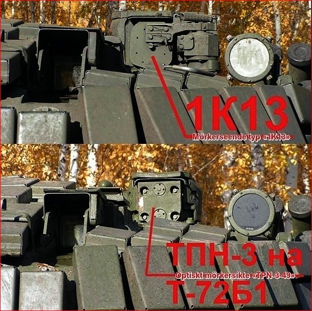 T-72B1 för de ryska väpnade styrkorna