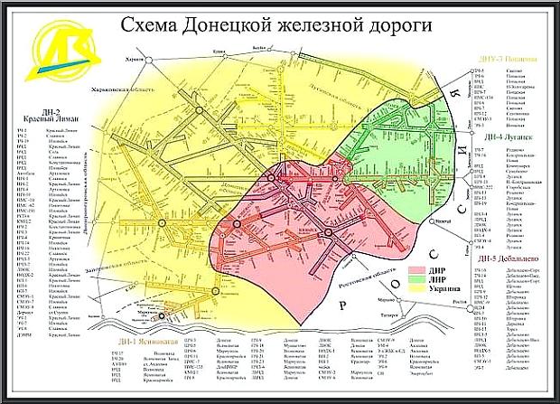 Donetsk järnvägar DonZhD