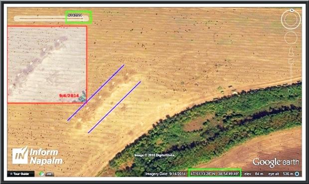 Russiske artilleriangreb mod Ukraine