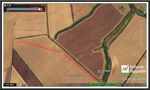 Russiske artilleriangrep mot Ukraina
