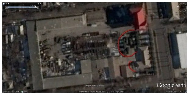 InformNapalm publicerar en satellitbild från februari 2015
