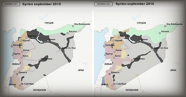 Ett år av Rysslands förstörelse av Syrien