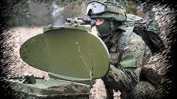 Ryskt Kredo-M1 radarsystem i Olenivka