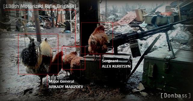 Soldater ur ryska 138:e motoriserade skyttebrigaden
