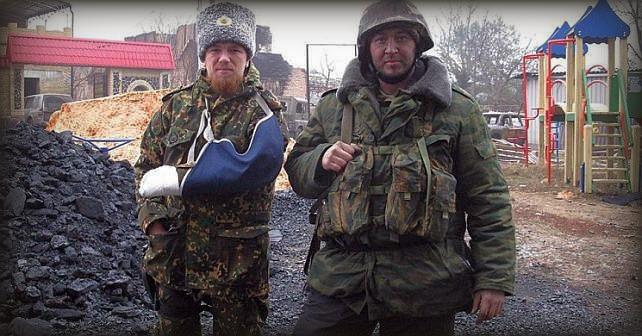 en rysk fängelsevakt på semester i Donbass