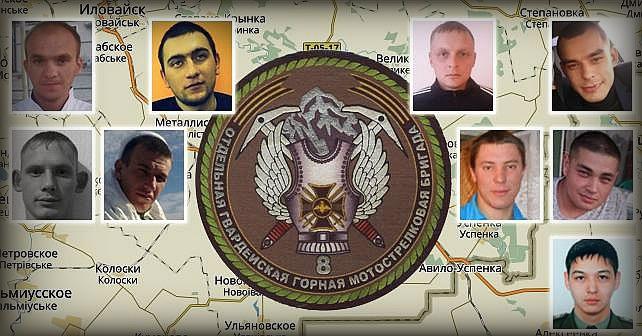 Identifiering av 8:e Motoriserade skyttebrigadens yrkesmilitärer