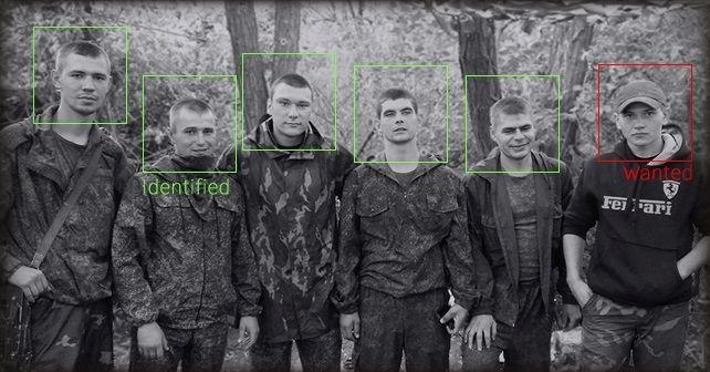Fem ryska soldater från MekIB 15