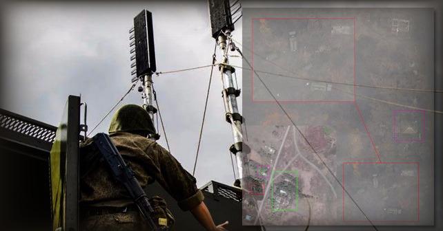 Rysk störstation R-330Zh Zhitel 7 km från avgränsningslinjen i Donbass