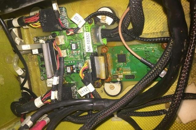 Orlan10 kontrollsystem efter demontering