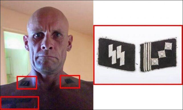 Dmitry Utkin mit den Symbolen der Waffen-SS