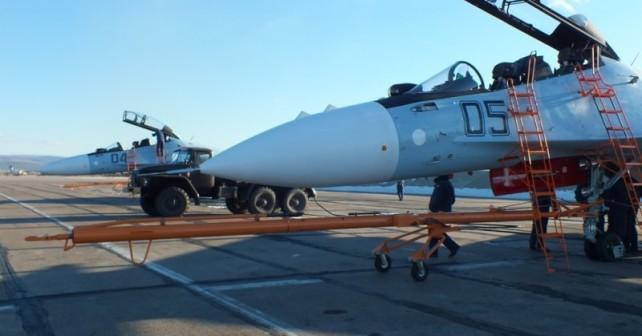 Lazkiye Hava Limanında Meydana çıkarılan Su 30sm Uçakları Ve Rusya