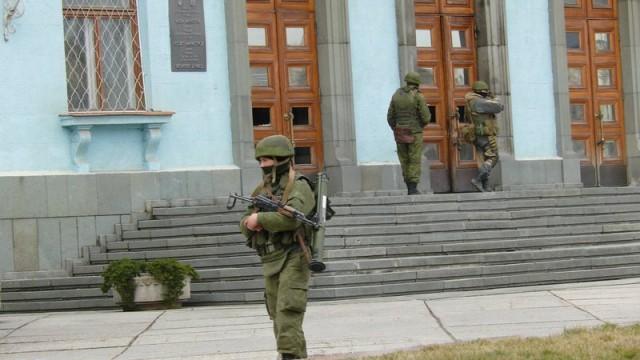 Фотографія, опублікована Кримським агентством новин 1 березня 2014 року