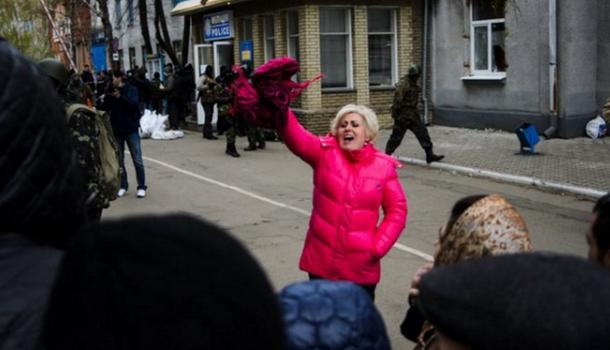 Den 12 april 2014 intog den ryska ärke-terroristen Strelkov-Girkin polisbyggnaden i Slovjansk